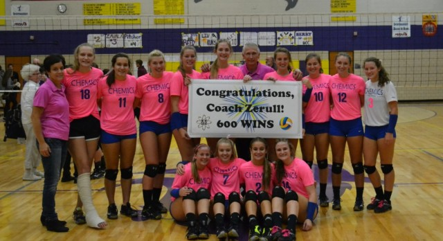 Coach Zerull Celebrates milestone victory