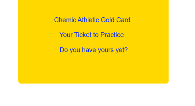 Gold Card Needed for Fall Tryouts / Practices