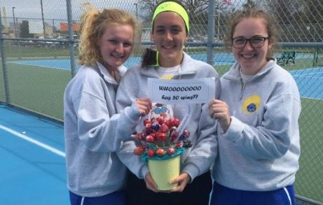 Arianna Hohner achieves tennis milestone