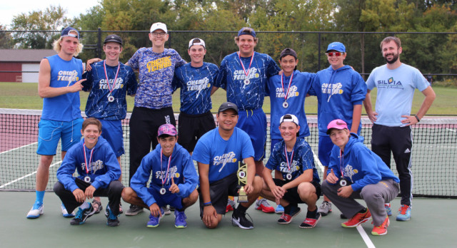 Tennis wins Davison Quad