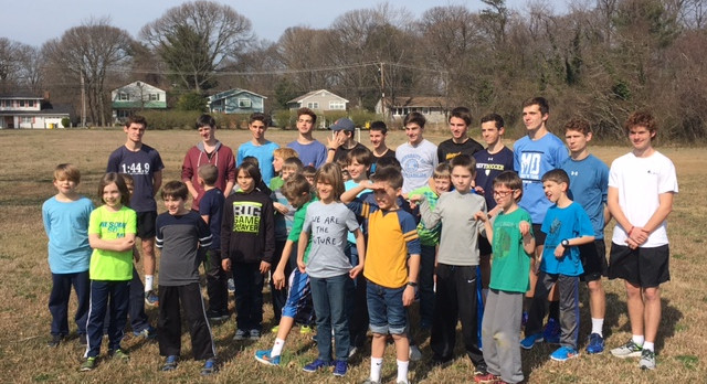 Bruin Track Athletes work with Future Bruins
