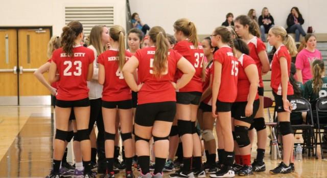8th grade volleyball ends season 1-2 at season ending tournament