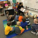 Winter Athletes Reading to the Elementary Students — 3-31-16