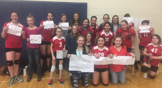 Middle School Volleyball teams have successful end to regular season