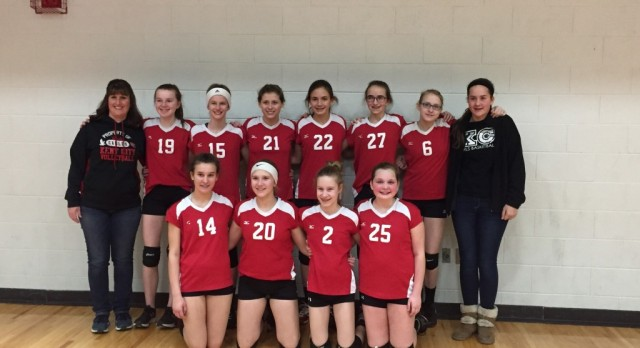 7th grade volleyball finishes in 2nd place in season ending tournament