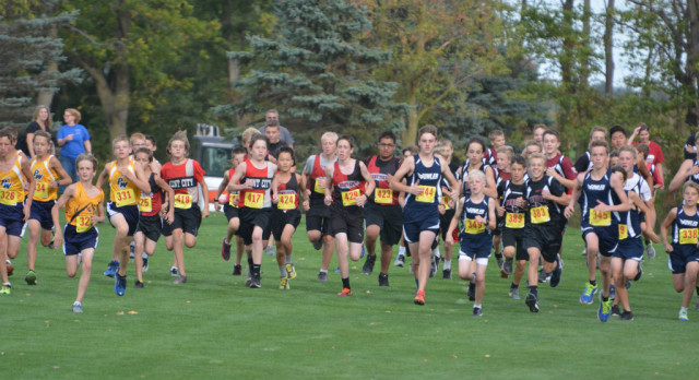 Middle School Cross Country Teams finish in 2nd place at Pewamo Westphalia Invite