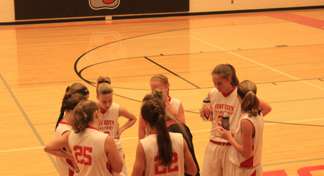 8th Grade Girls Basketball defeats Holton & Reed City for season opener
