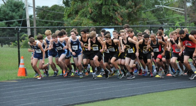 Northeast Cross Country breaking free from the pack #NECrossCountry #RunningEagles