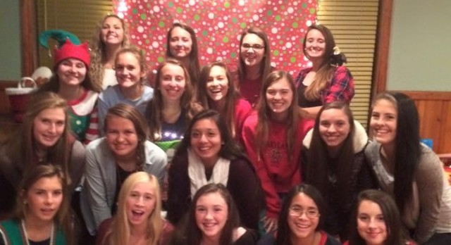 #NHSGirlsSoccer gets together for the holidays…  #NHSTeamBonding