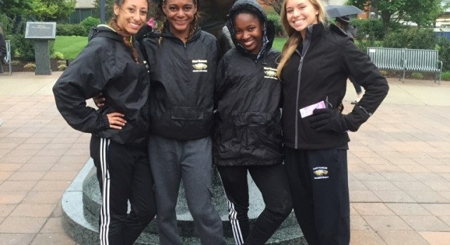 NHS Women's Track Team Setting Records!  GO EAGLES!