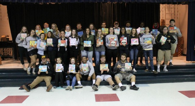 NHS Student-Athletes Supporting Literacy W/ @SolleyAACPS