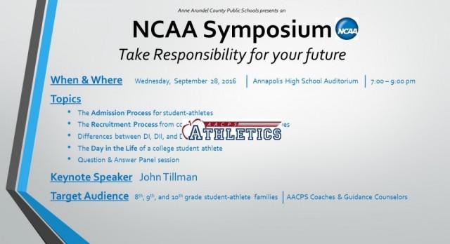 AACPS NCAA Symposium 9/28