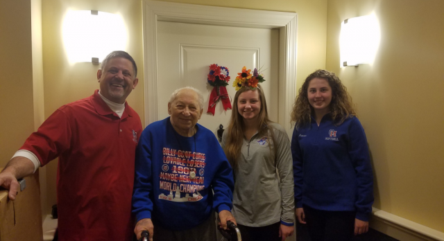 Old Mill Softball Performs Community Service Event at Assisted Living Facility