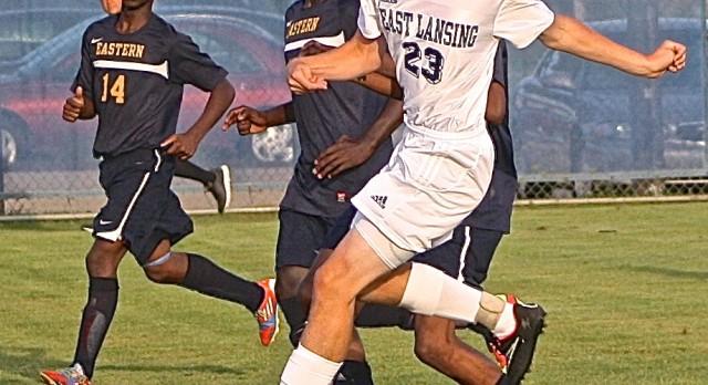 East Lansing High School Soccer Varsity Boys beats Lansing Eastern High School 7-1
