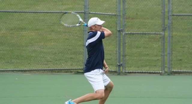 East Lansing High School Boys Varsity Tennis ties Haslett High School 4-4