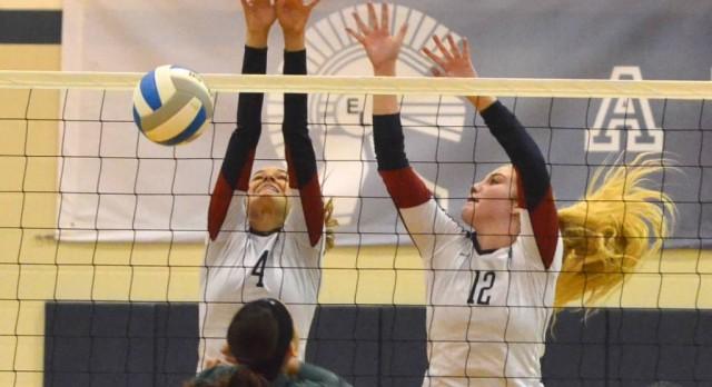 East Lansing High School Girls Varsity Volleyball falls to DeWitt High School 0-3
