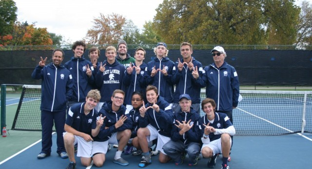 East Lansing High School Boys Varsity Tennis finishes 2nd place