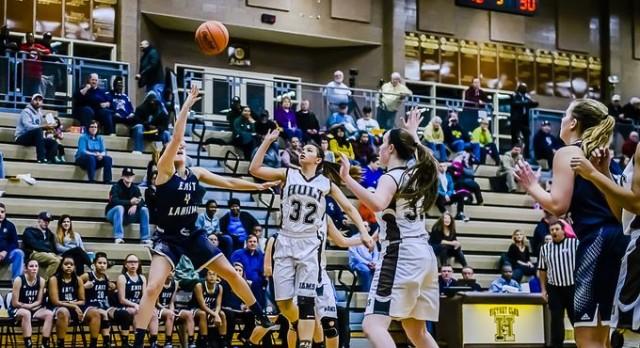 East Lansing High School Girls Varsity Basketball beat Holt High School 58-39