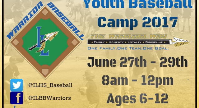 Warrior Baseball Youth Camp starts Tomorrow