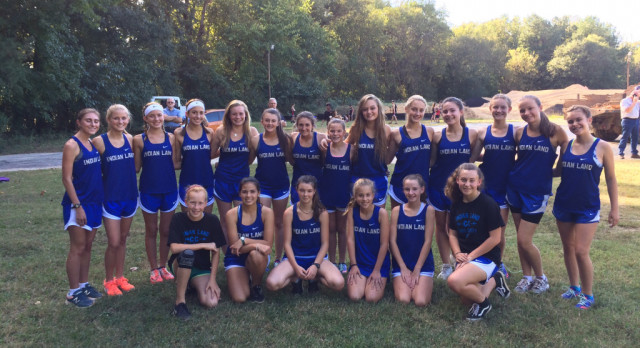 Girl's Cross Country Win Meet at Lancaster