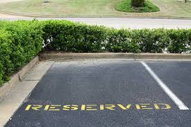 Reserved Parking Spaces Available