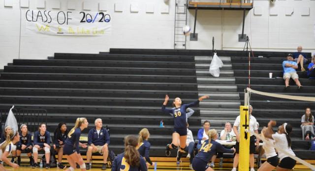 Chattanooga Christian School Girls Varsity Volleyball beat Notre Dame School 2-1