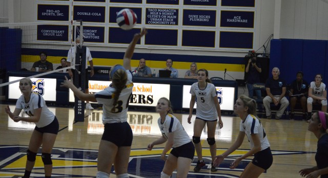Chattanooga Christian School Girls Varsity Volleyball beat Bledsoe County High School 3-0