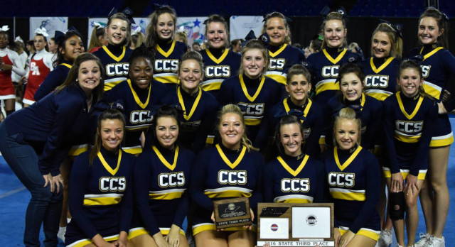 CCS Cheer wins National Bid finishing 3rd in State!