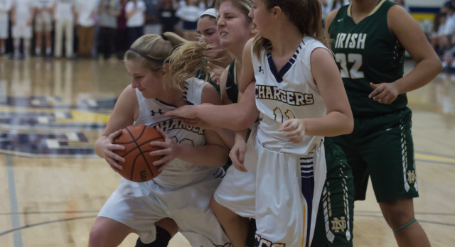 Lady Chargers beat Notre Dame School 45-41
