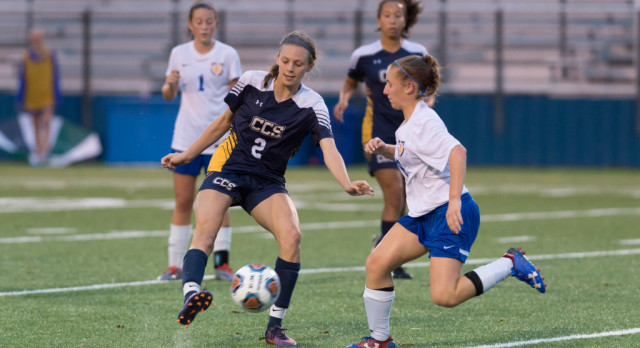 Lady Chargers pounce quickly, beat Lady Bucs 5-0