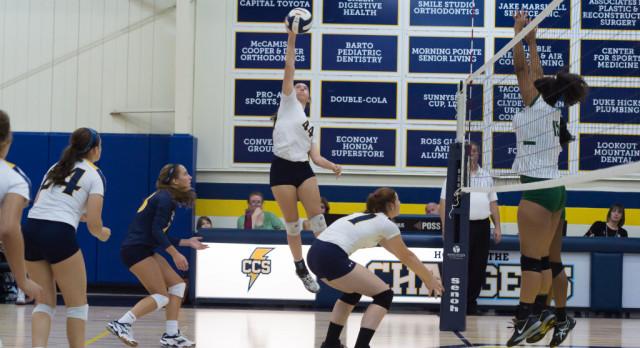 Chattanooga Christian School Girls Varsity Volleyball beat Notre Dame School 3-2
