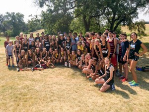 Lovejoy Cross Country team following the Cowtown Invite