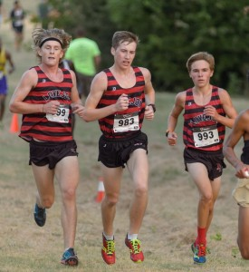 Noah Landguth, Ryan Brands, and Cole Hinton compete in the Cowtown Invitational