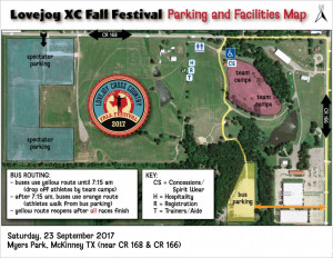 Fall Fest Parking Map Updated 9.15.17