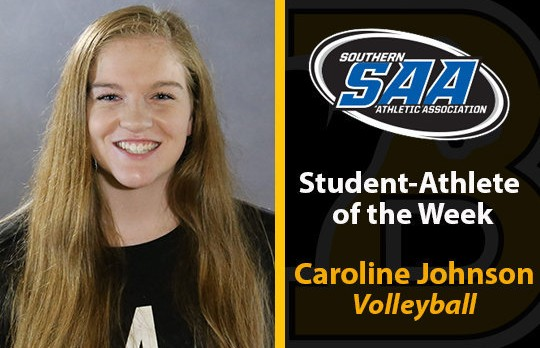 Former Lovejoy Volleyball player Caroline Johnson named SAA co-defensive player of the week
