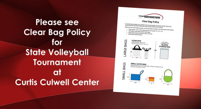 Clear Bag Policy for State Volleyball Tournament