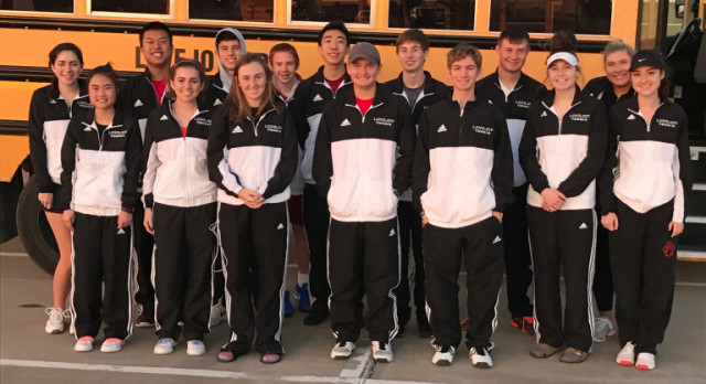 Lovejoy Varsity Tennis Team dominates the Frisco Polar Vortex Tournament