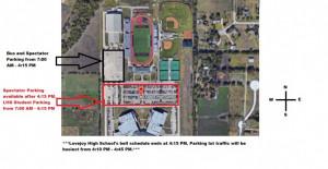Area Meet Parking Map