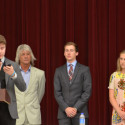 From Left to right: Nathan Hartter, Coach Greg Christensen, Ryan Brands, Carson Hockersmith
