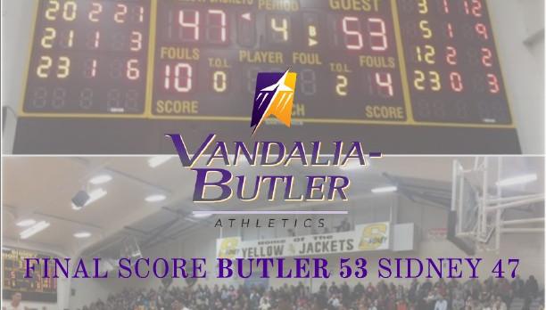 Butler Defeats Sidney 53-47