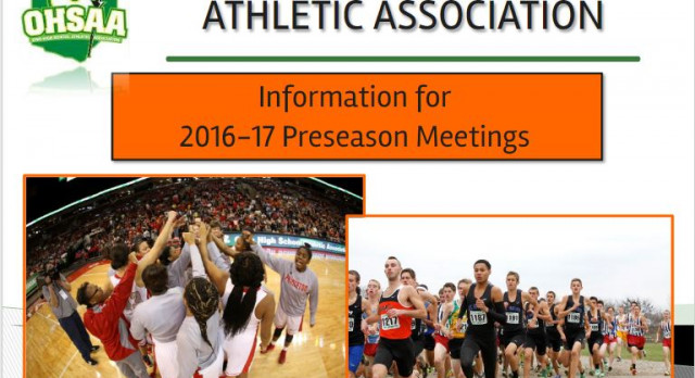 INFORMATION FOR 2016-17 ATHLETIC PRESEASON MEETINGS