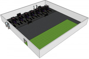 New Weight Room Concept Overhead