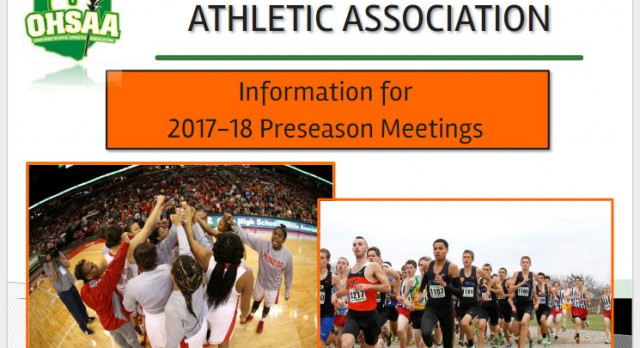 INFORMATION FOR 2017-18 ATHLETIC PRESEASON MEETINGS
