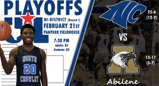 North Crowley Men's Basketball Playoff Info
