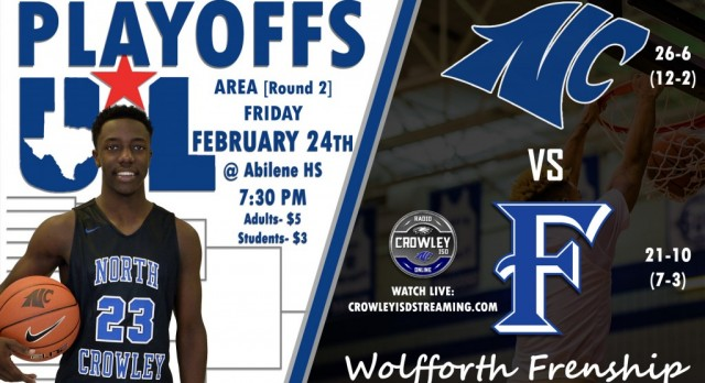 NC vs Wolfforth Frenship Tonight @ 7:30PM