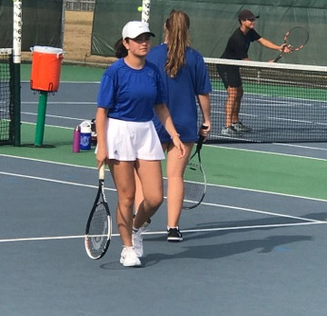 Panther Tennis Earns Dist. Road Win!