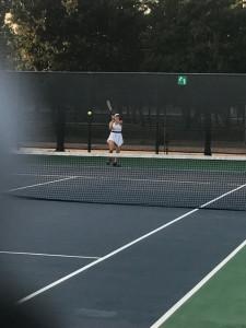 Senior Alyssa Nunez grinded out a tough match but came up short.