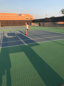 Sophomore Colt Nickle proved to much for his Arlington High opponent.