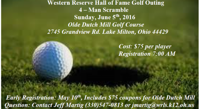 Western Reserve Hall of Fame Golf Outing
