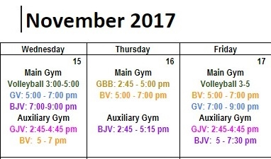 Winter Tryouts Times & Dates